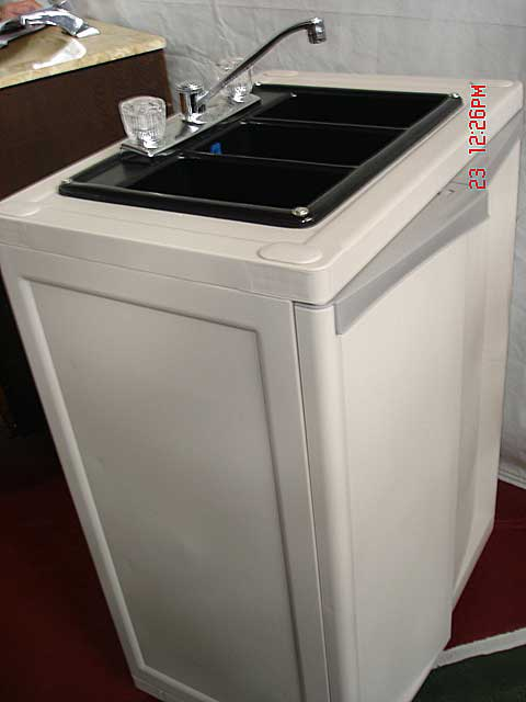Plastic Portable Sink : Portable Sink/Prep...