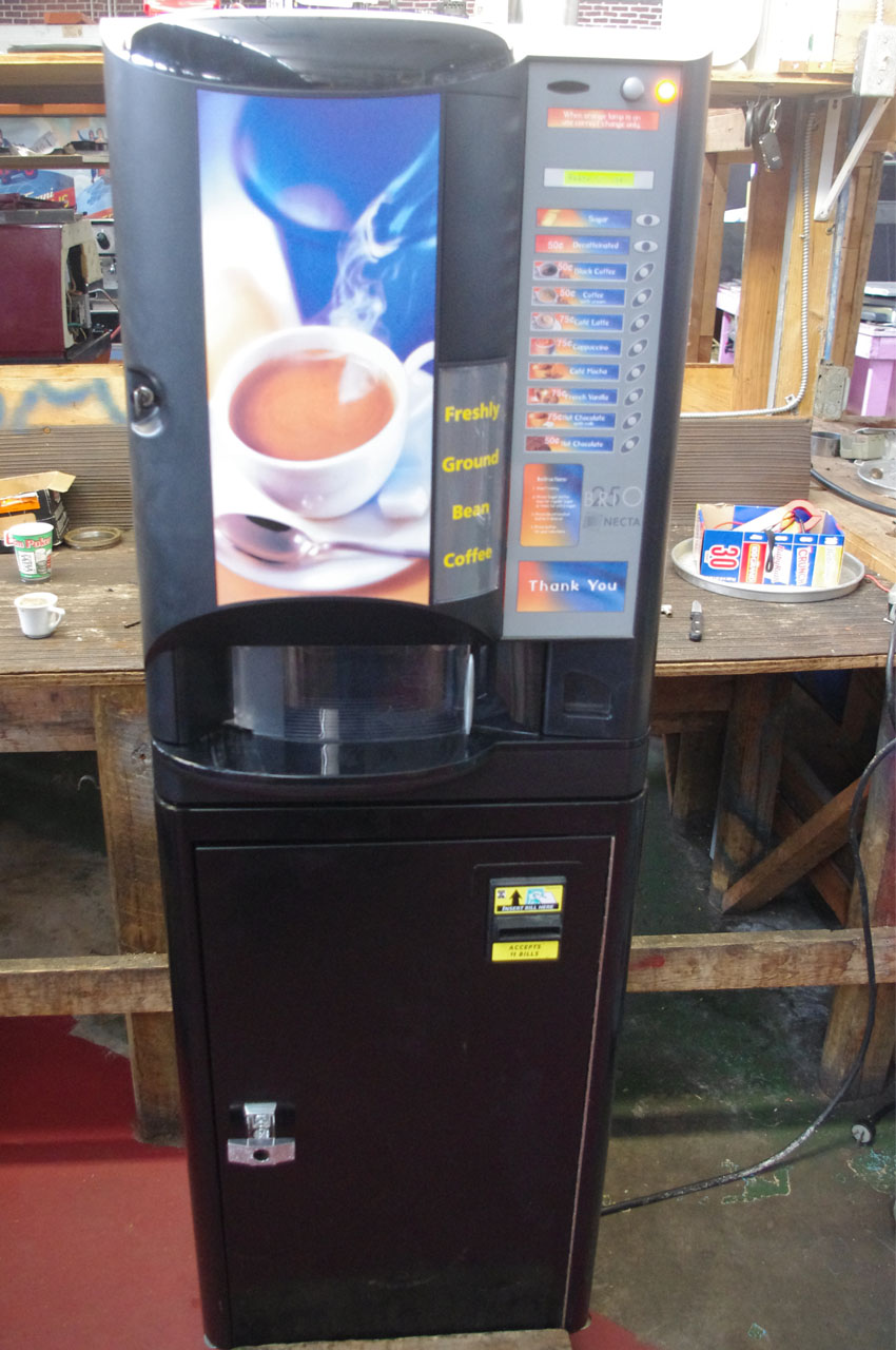 coffee vending machine specifications